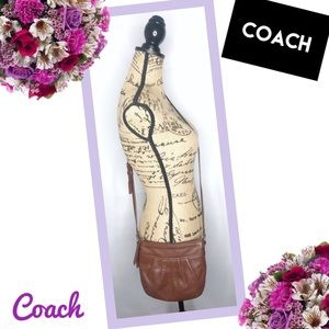 COACH Poppy Vintage Brown Leather Crossbody